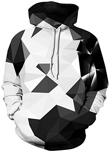 TDOLAH 3D Prints Pullover Jumpers Breathable Hoodies Patterned Sweatshirts For Mens Size S M L XL 2XL 3XL (L/XL, 126Crystal-1)