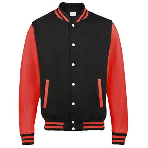 Awdis Varsity Jacket Jet Noir/Blanc