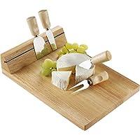 Käsebrett aus Holz mit Magnethalter für das 4-tlg. Besteck Auslieferung ohne Käse