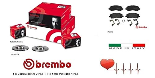 09A63710-P18001 Dischi Freno + Pastiglie Anteriori Brembo