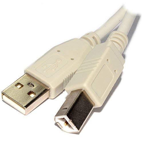 lilmacc® 1,8m lang USB-Drucker, Kabel für–Canon Pixma MG5750Multifunktions-Inkjet Drucker–Weiß Version