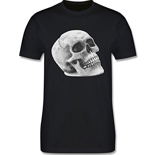 Piraten & Totenkopf - Totenkopf Skull - Herren Premium T-Shirt Schwarz
