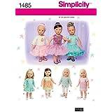 Simplicity Elaine Heigl Designs 1485Patron de Couture Vêtements pour poupée 18dans