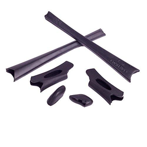 Walleva Ohrenschützer und Nasenpolster für Oakley Flak Jacket/Flak Jacket XLJ (Schwarz)