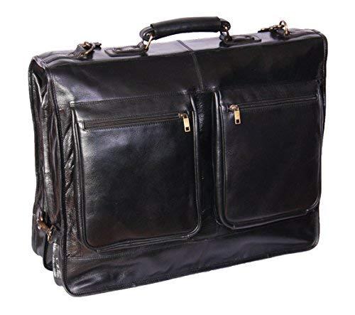 Echt Leder Anzug Kleid Weekender Transporttasche Canico schwarz