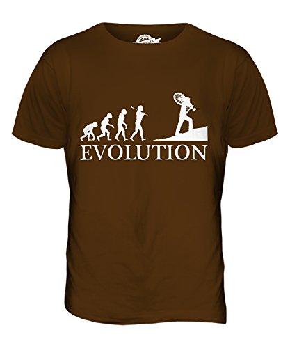 CandyMix Querfeldeinrennen Querfeldein Evolution Des Menschen Herren T Shirt Braun