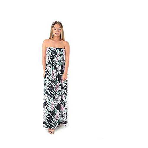 JAVOX Fashion's Damen Trainingsanzug Kleid Gr. One size, Jungle green print (Jungle Print Kleid)