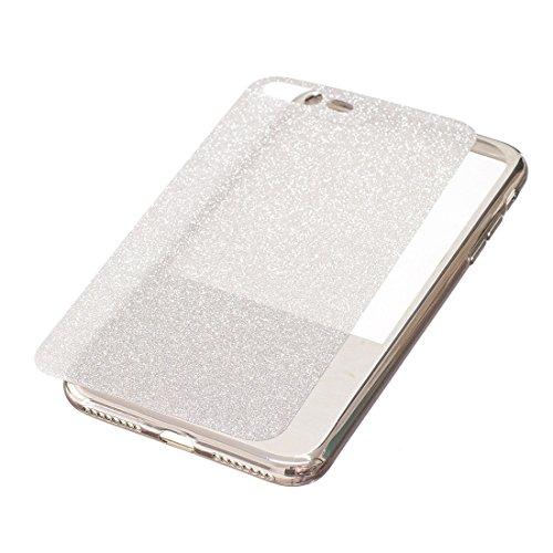 Hülle für iPhone 7 plus , Schutzhülle Für iPhone 7 Plus galvanisierender Spiegel TPU schützender rückseitiger Abdeckungs-Fall ,hülle für iPhone 7 plus , case for iphone 7 plus ( Color : Black ) Silver