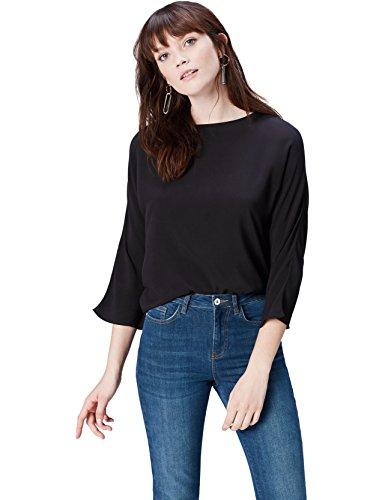 FIND 17AMZ807 t shirt damen, Schwarz (Black), 46 (Herstellergröße: XXX-Large)