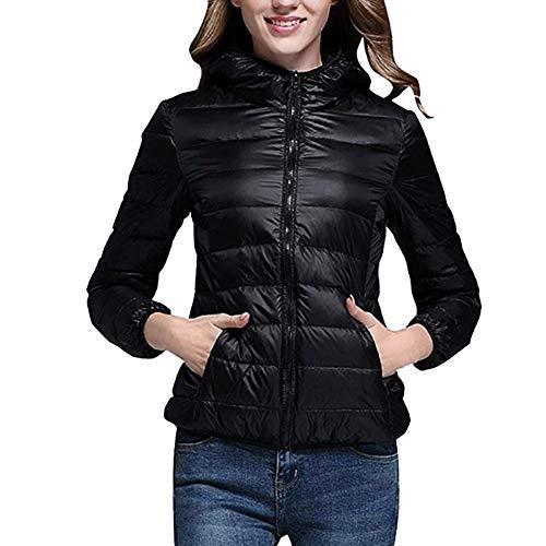 njacke Winter Übergangsjacke - Damen Steppjacke Mantel Gepolstert Packbar Kugelfisch Ultraleicht Kurz Mit Kapuze Outwear ()