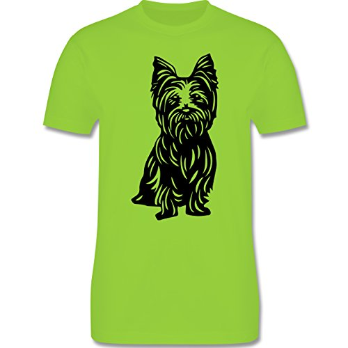 Hunde - Yorkshire Terrier - Herren Premium T-Shirt Hellgrün