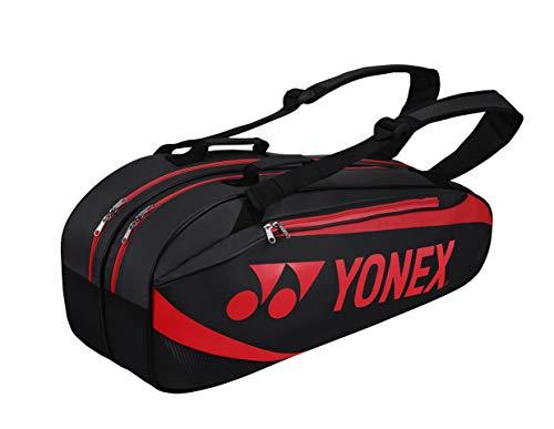 YONEX thermobag 6er schwarz rot Schlägertasche Schwarz - Rot