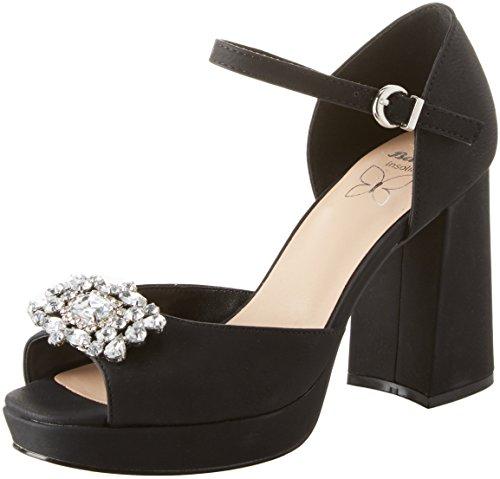 Bata 721253, scarpe col tacco con plateau donna, nero, 37 eu