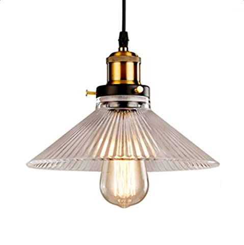 Unimall Industrial Light Vintage Pendant Ceiling Light Shade Retro Pendent Light Chandelier for Bar Coffee Shop Restaurant Living Room Dining Room