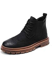 b5825dfbd9dfb8 Ruanyi Stivali Moda, Casual individualità Cuciture Lace-up scolpito Alto  Boot Brogue per Uomo