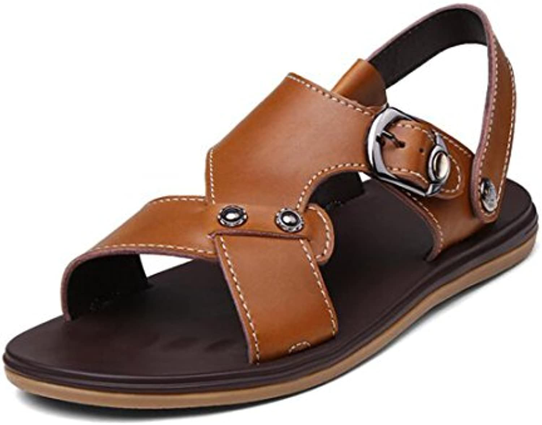 Herren Sommer Sandalen Leder Offene Zehe Sandalen Casual Fashion Wear Sandalen