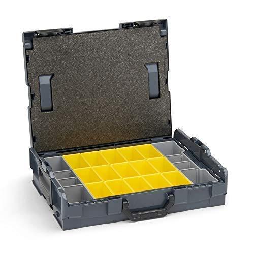 Bosch Sortimo L BOXX 102 | Größe 1 | Professioneller Werkzeugkasten leer Kunststoff inkl. Insetboxenset B3 | Ideale Werkzeug Aufbewahrung