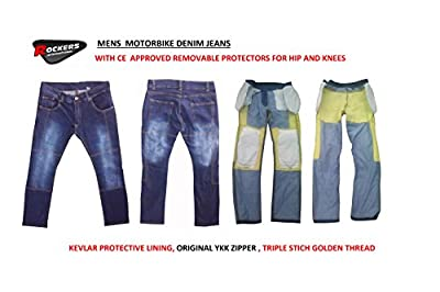 Mens Gents Motorbike Motorcycle Denim Jeans/Pants/TrouserS with Protective Lining & CE Armours