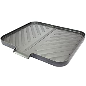 Space saving silver worktop drainer tray kitchen home - Dish rack for small space collection ...