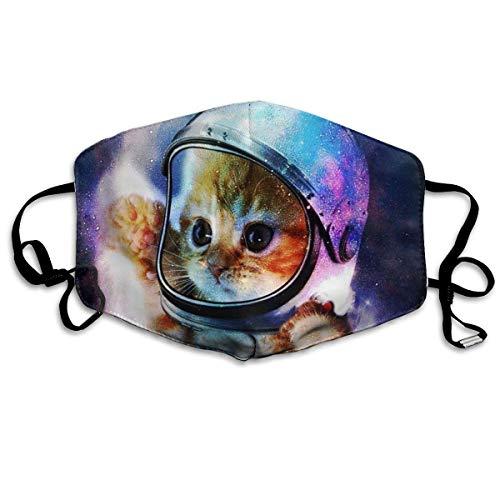 Vbnbvn Unisex Mundmaske,Wiederverwendbar Anti Staub Schutzhülle,Astronaut Cat in Space Cotton Mouth Masks,Anti-dust Face Mask for Women and Men (Superhelden-masken Masse Der In)