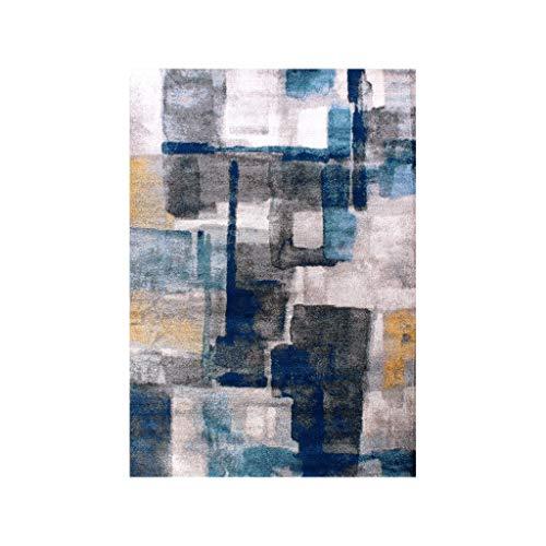 Teteras Abstracto Azul Nordic Gris Alfombra Sala de Estar Sencillo y Moderno...