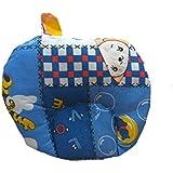 Dhawariya's Presents New Born Baby Cotton Soft Fabric Musterd Seeds Rai Pillow For Baby Head Shaping Apple U Shape Takiya Detachable Mustard / Rai Seed Pouch For Easy Washing Feeding & Nursing Baby Neck Pillow (Blue)