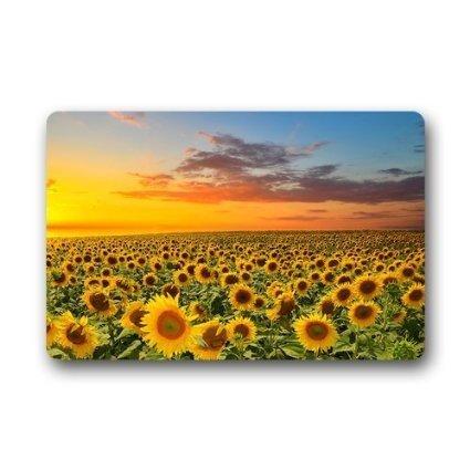 good quality Custom Fußmatte Sunset-Sonnenblume Dekorative Türmatte Fußmatte Decor Teppich 59,9x 39,9cm Vlies Stoff Rutschfeste