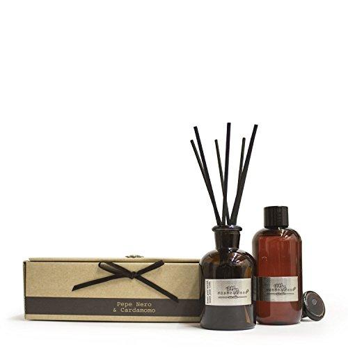 My Fragrances Cofanetto regalo Aromatika - Diffusore bastoncini 200ml con ricarica Pepe Nero e Cardamomo