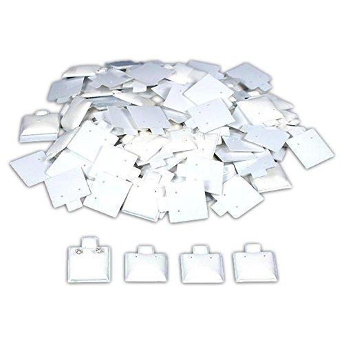Findingking Lot 100 Blanc Boucles d'oreilles Puff Cartes Bijoux Showcase écrans de 2,5 cm