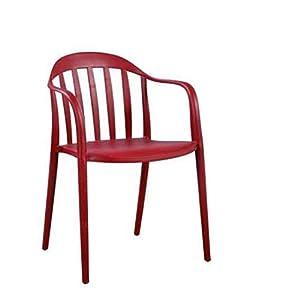 Zons 2 Stück Zion Stuhl PP stapelbar – Outdoor oder Innen