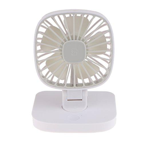 Preisvergleich Produktbild Sharplace Mini USB Fan Ventilator für Büro Auto Schreibtisch, Leises Betriebsgeräusch, Schwarz/Weiß - Weiß