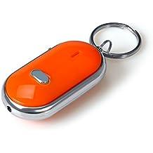 Paquete De 2 Led Light Buscador Silbato llavero llavero Sonido Claps buscador dominante Locator