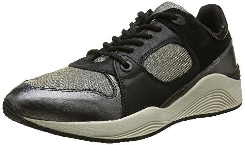 Geox Damen D Omaya A Sneakers Schwarz (BLACK/GUNC9B1G)
