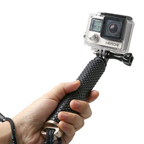 """LENDOO Gopro Bastone Selfie,Telescopico Selfie Stick per GoPro Hero 5 Hero 4 Hero 3+ Hero 3 Hero 2 /Xiaomi YI,DBPOWER,SJ7000/6000/5000/4000 e altri dispositivi con 1/4"""" Camera (Oro)"""