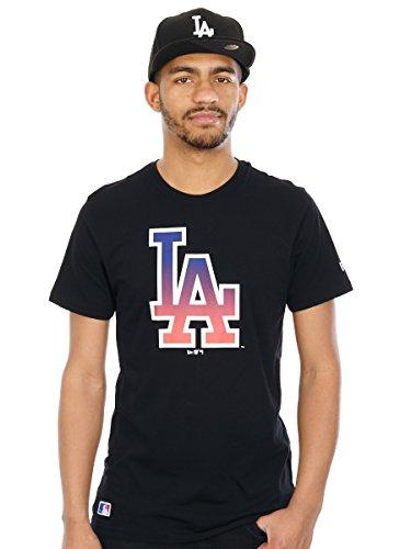New Era Herren Oberteile / T-Shirt West Coast LA Dodgers Logo Schwarz