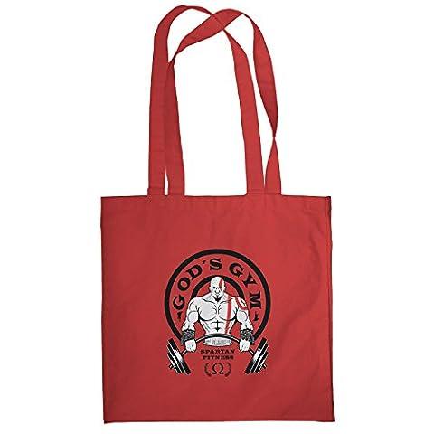TEXLAB - God's Gym Spartan Gym - Stoffbeutel, rot