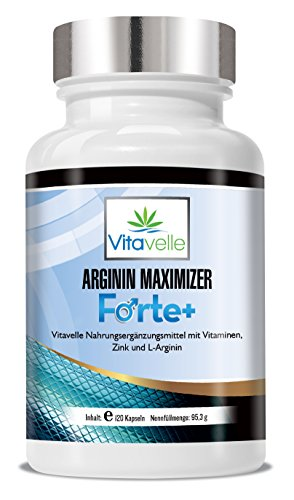 Arginin L-Arginin Super MAXX Ultra Formula+ I Extra hochdosiertes L-Aginin | 120 Kapseln | Premium Qualität Made in Germany | Allergikergeeignet