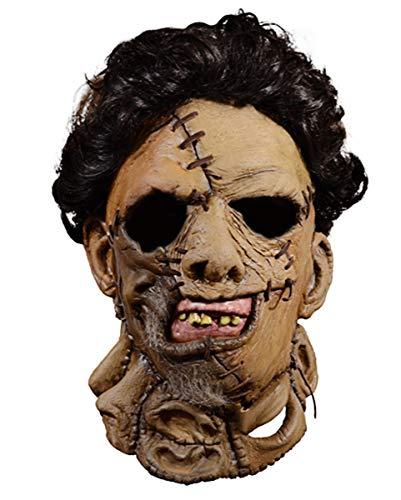Horror-Shop Texas Chainsaw Massacre 2 Leatherface Maske mit Haaren (Halloween-maske Chainsaw Texas Massacre)