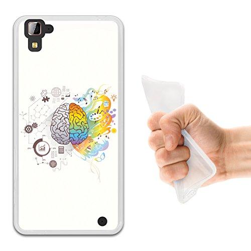 WoowCase Hisense C30 Rock Hülle, Handyhülle Silikon für [ Hisense C30 Rock ] Gehirn, Musik und Wissenschaft Handytasche Handy Cover Case Schutzhülle Flexible TPU - Transparent