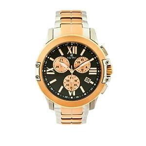 Oskar Emil Fresno RG – Reloj cronógrafo de Cuarzo para Hombre con Correa de Acero Inoxidable, Color Oro Rosa