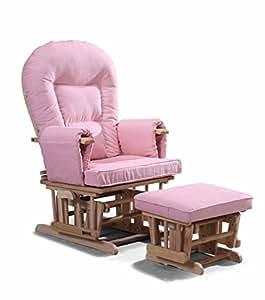 Chaise Maternité Allaitement Bascule Avec repose-pied assorti Couleur Rose Planeur chaise