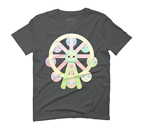 kawaii ferris wheel Men's Graphic T-Shirt - Design By Humans Anthracite