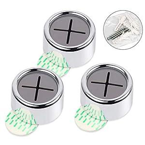 HAUSPROFI Handtuchhalter, Geschirrtuchhalter, Handtuchhaken, Handtuchklemme, Geschirrtuchklemme selbstklebend ohne bohren für Bad, Küche und Haushalt - 4.2x 2.2 cm - 3er Set