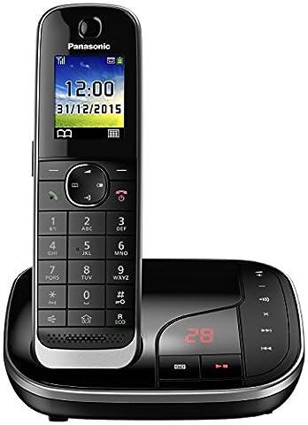 PANASONIC KX-TGJ320GB DECT Schnurlostelefon mit Anrufbeantworter und Anruferansage,