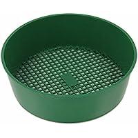 Jardín tamiz plástico, tamiz de jardín, herramienta de mano para suelo, malla verde diámetro 20cm