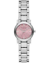 40e7e481196 Burberry The City Cadran Rose en acier inoxydable montre pour femme Bu9231