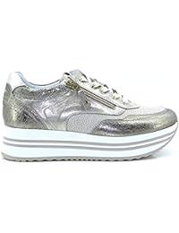 Nero Giardini P907751D 414 Sneakers Scarpe Donna Lacci Stringhe Zip para Oro fbb57a40ede