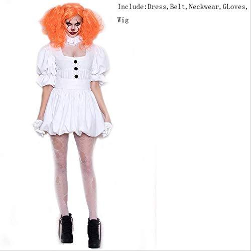 CHNWSJ Kostüm for Halloween-Kostüm-Erwachsen-Kostüm Frauen Sexy Clown-Kostüm for Halloween Outfit Anzug L Fügen Sie (Berühmte Tv Paare Kostüm)