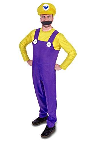 Instant Costumes Super Schlecht Klempner Brüder Erwachsene Kostüm (Herrengröße: X-Groß, Gelb)