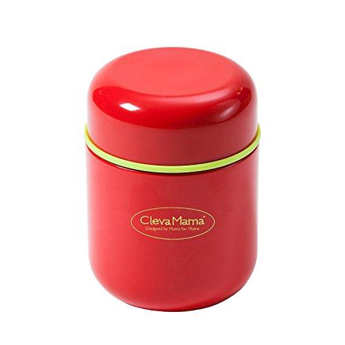 Clevamama 7027 Thermos per Alimenti e Bevande, Rosso